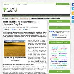 L'artificialisation menace l'indépendance alimentaire française