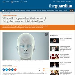 What will happen when the internet of things becomes artificially intelligent?