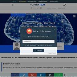 Cerveau artificiel : ils créent des synapses électroniques capables d'apprendre