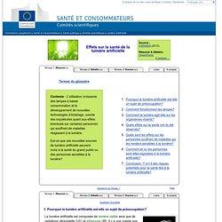 Effets sur la santé de la lumière artificielle - Commission européenne