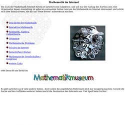 Mathematik im Internet Artikel 1999