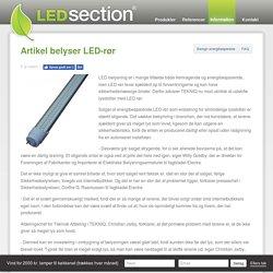 Artikel belyser LED-rør