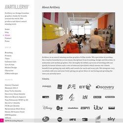 About - Artillery design motion graphics studio