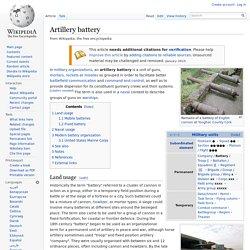 Artillery battery