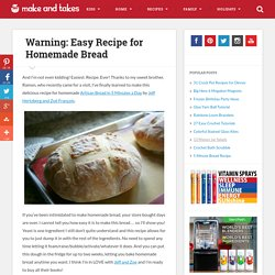 Artisan Bread in Five Minutes a Day | Make and Takes - StumbleUpon