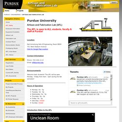 Artisan and Fabrication Lab, Purdue University