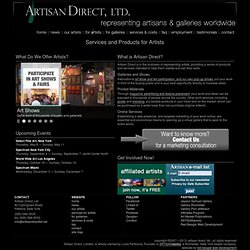artisan direct, ltd. ~ services & products