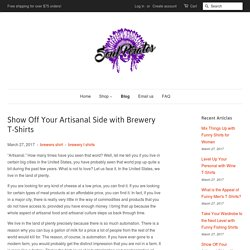 Show Off Your Artisanal Side with Brewery T-Shirts – Soul Pirates Shop