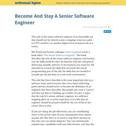 Become And Stay A Senior Software Engineer