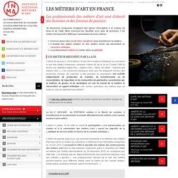 Métiers d'art en France - Métiers d'artisanat d'art - INMA (ex SEMA)