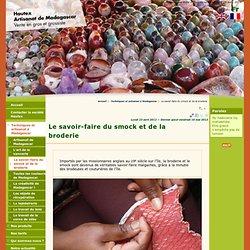 Le savoir-faire du smock et de la broderie - Hautex Artisanat de Madagascar Vente en gros et grossiste