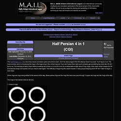 M.A.I.L. - Maille Artisans International League - Half Persian 4-1 (CGI) - Submitted by Eli