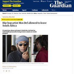 Hip-hop artist Mos Def allowed to leave South Africa