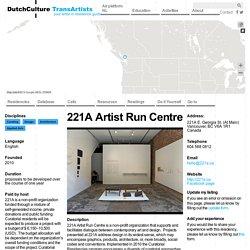 221A Artist Run Centre
