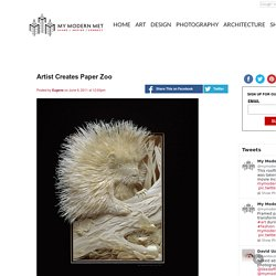 Artist Creates Paper Zoo