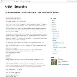 Fine art resume