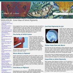 Color Bias of Artist Pigments - science of colour