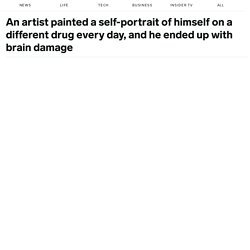 Artist paints self-portrait while on different drug every day, gets brain damage