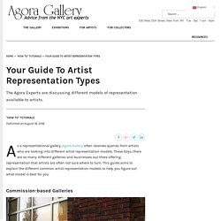 Your Guide To Artist Representation Types - Agora Advice Blog