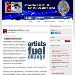 Artist as Social Entrepreneur