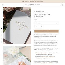 2020 Artist of Life Workbook – The Lavendaire Shop