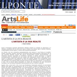 L'ARTISTA E LA SUA REALTÁ - ArtsLife