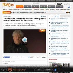 Artistas como Almodóvar, Bardem o Verdú prestan su voz a 15 víctimas del franquismo