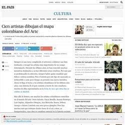 Cien artistas dibujan el mapa colombiano del Arte