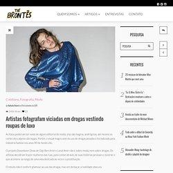Artistas fotografam viciadas em drogas vestindo roupas de luxo