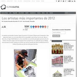 Los artistas más importantes de 2012