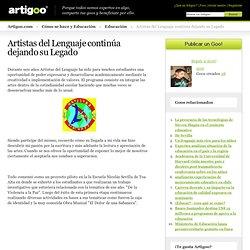 Artistas del Lenguaje continúa dejando su Legado