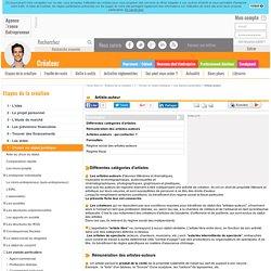 Artiste-auteur - AFE, Agence France Entrepreneur