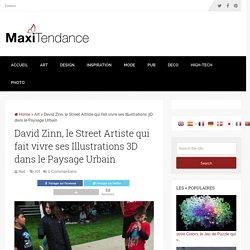David Zinn, le Street Artiste qui fait vivre ses Illustrations 3D dans le Paysage Urbain