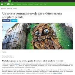 Un artiste portugais recycle des ordures en une sculpture géante
