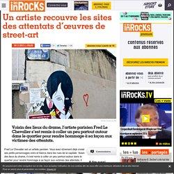 Un artiste recouvre les sites des attentats d'œuvres de street-art