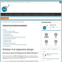 Thème Artisteer Responsive sur WordPress - GRACIET EIRL