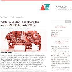 Artistes et créatifs freelances : comment établir vos tarifs - artizest