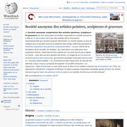 Société anonyme des artistes peintres, sculpteurs et graveurs