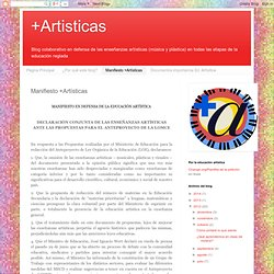 +Artisticas: Manifiesto +Artísticas
