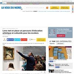 Lens met en place un parcours d'éducation artistique et culturelle pour les écoliers