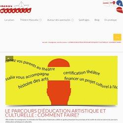 LE PARCOURS D'ÉDUCATION ARTISTIQUE ET CULTURELLE : COMMENT FAIRE? - Théâtre Massalia Théâtre Massalia