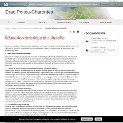 Éducation artistique et culturelle - Drac Poitou-Charentes