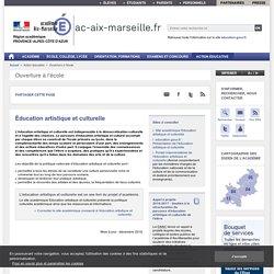 Éducation artistique et culturelle - ac-aix-marseille.fr