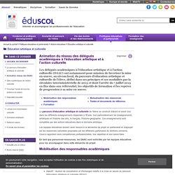 Éducation artistique et culturelle - Animation réseau des DAAC