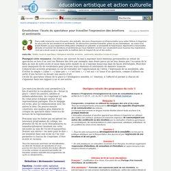 éducation artistique et action culturelle - Emoticônes: l'école du spectateur pour travailler l'expression des émotions et sentiments
