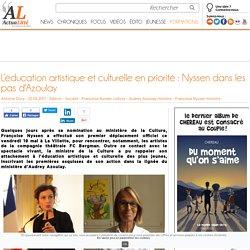 L'éducation artistique et culturelle en priorité : Nyssen dans les pas d'Azoulay