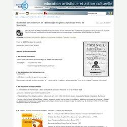 éducation artistique et action culturelle - mémoires des traites et de l'esclavage au lycée Léonard de Vinci de Montaigu