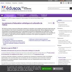 Enjeux - Le parcours d'éducation artistique et culturelle