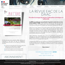 Revue éducation artistique et culturelle Art'Ure 48 pages revue gratuite