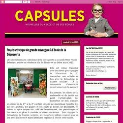 Capsules: Projet artistique de grande envergure à l'école de la Découverte